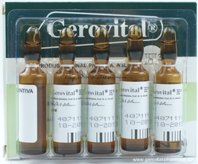 Gerovital Injectables, 3 months treatment with 30 vials Original formula - Romanian genuine Gerovital GH3 by Ana Aslan