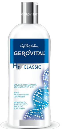 2 in 1 moisturizing cleanser from Gerovital H3 Classic